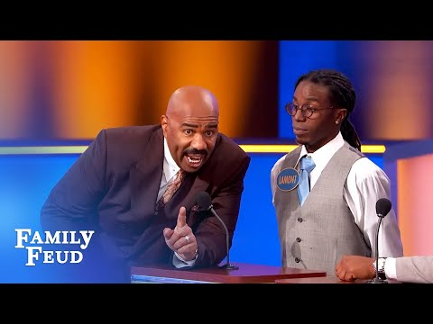 Steve Harvey threatens to destroy the set if THIS is up there! | Family Feud