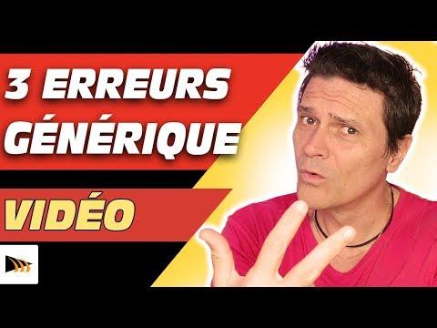 Comment faire un générique sur YouTube : 3 Erreurs générique vidéo YouTube