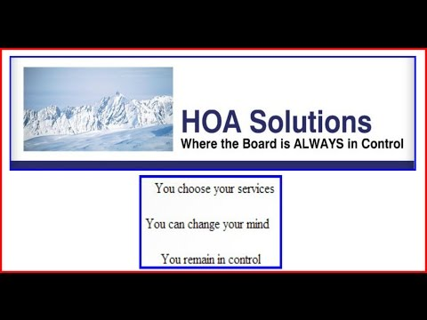 HOA Solutions specializes in all facets of Homeowners Association management  Saratoga Springs