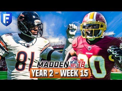 Madden 18 Bears Franchise Year 2 - Week 15 @ Redskins | Ep.34