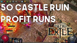 Path of Exile: Results of 50 Castle Ruin Maps - Cost & Returns!