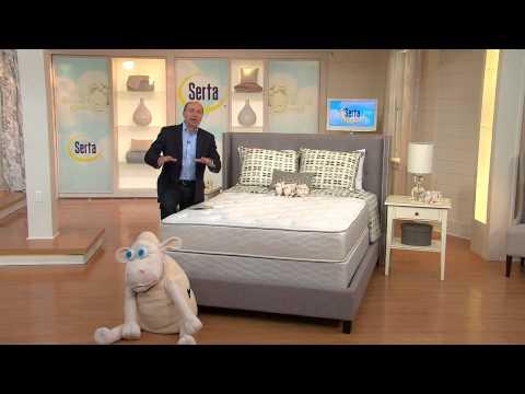 "Serta Allurement 11.5"" Plush Top Cal King Mattress Set with Dan Wheeler"