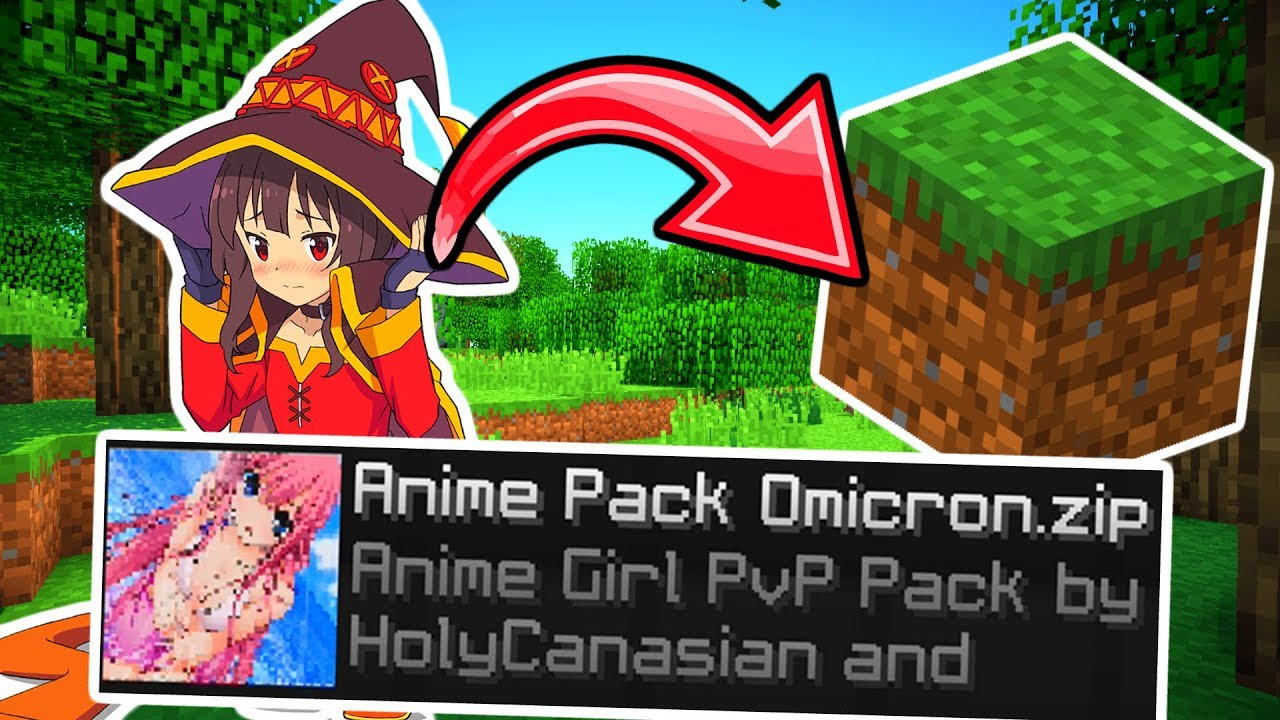 Using an ANIME Texture Pack In Minecraft 2 (Waifu Edition)