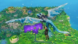 The ICE DRAGON Glider in Fortnite... (INSANE)