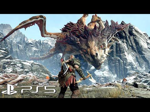 God of War PS5 - Dragon Boss Fight  PS5 Gameplay 4K Ultra HD