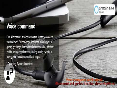 5c679a7c420 Jabra Elite 45e Alexa Enabled Wireless Bluetooth In Ear Headphones Titanium  Black