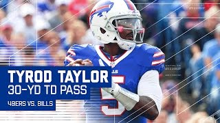 LeSean McCoy's Ankle-Breaking Run Leads to Tyrod Taylor's 30-Yard TD Pass! | 49ers vs. Bills | NFL