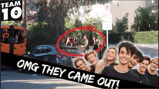 DING DONG DITCH PRANK ON TEAM 10! (THEY CAME OUT)