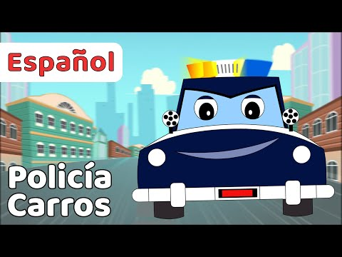 Song of Police Cars For children in Spanish   children's songs and music   Animation