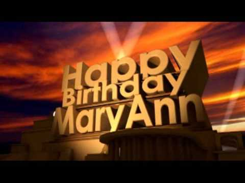 Happy Birthday MaryAnn
