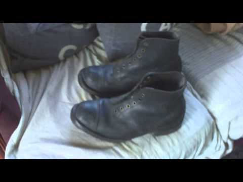 VINTAGE BRITISH MILITARY STYLE TRADE/AGRICULTURE/MINING ANKLE BOOTS