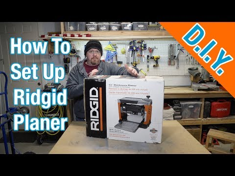 Ridgid Planer Model R4331 - Set Up And Review