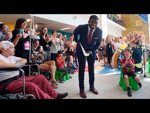 "Child asks P.K. Subban ""Who's your favourite Montreal Canadien?"""