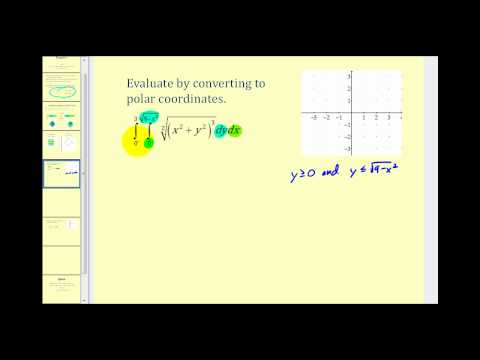Double Integrals in Polar Coordinates - Example 1