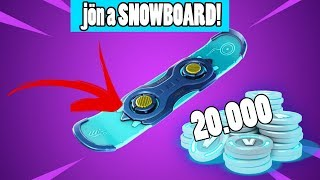 JÖN A SNOWBOARD A JÁTÉKBA | 20.000 V-BUCKS NYEREMÉNYJÁTÉK🎁 | FORTNITE | !vbuck
