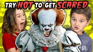 Kids React To Try Not To Get Scared Challenge