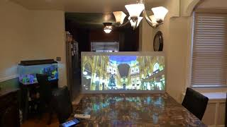 FIRST Tv looking projection screen without a 4K projector Luminous nano tech 4K pre-order 05/12/18