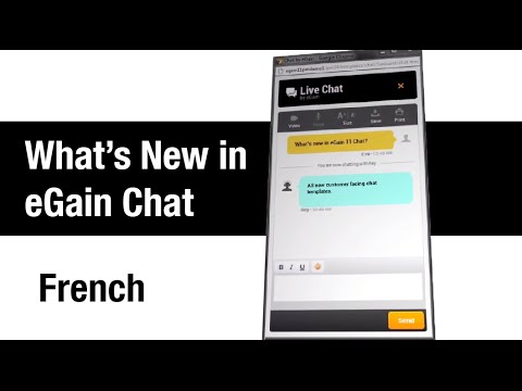 What's New in eGain Chat (French)
