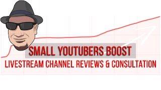 Livestream YouTube Training, Channel Reviews, Tutorials, Q&A Jul 20