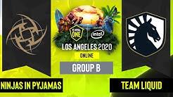 Dota2 - Team Liquid vs. Ninjas in Pyjamas - Game 2 - Group B - EU/CIS - ESL One Los Angeles