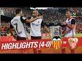Resumen de Valencia CF vs Sevilla FC (4-0)