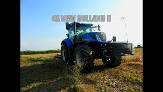 Żniwa 2019 a po żniwach ?? 4x New Holland / CASE / Ursus