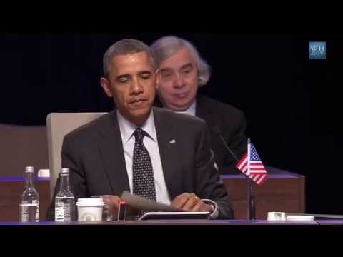 President Obama Speaks at the Nuclear Security Summit*God keep Evil at Bay.