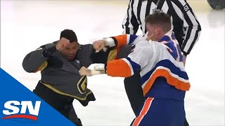 Ryan Reaves, Ross Johnston Drop Gloves Off Opening Faceoff