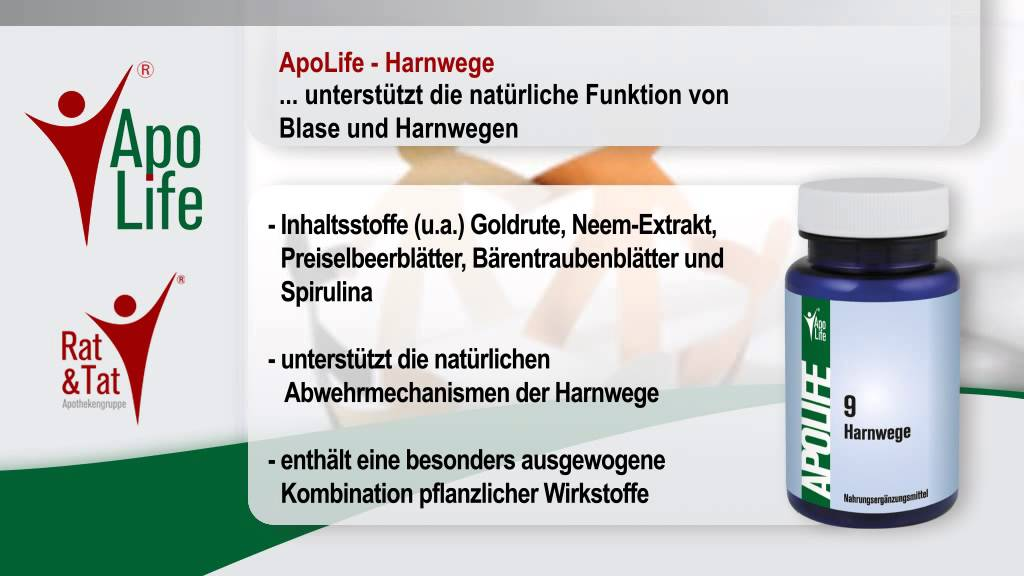 ApoLife 9 Harnwege - YouTube