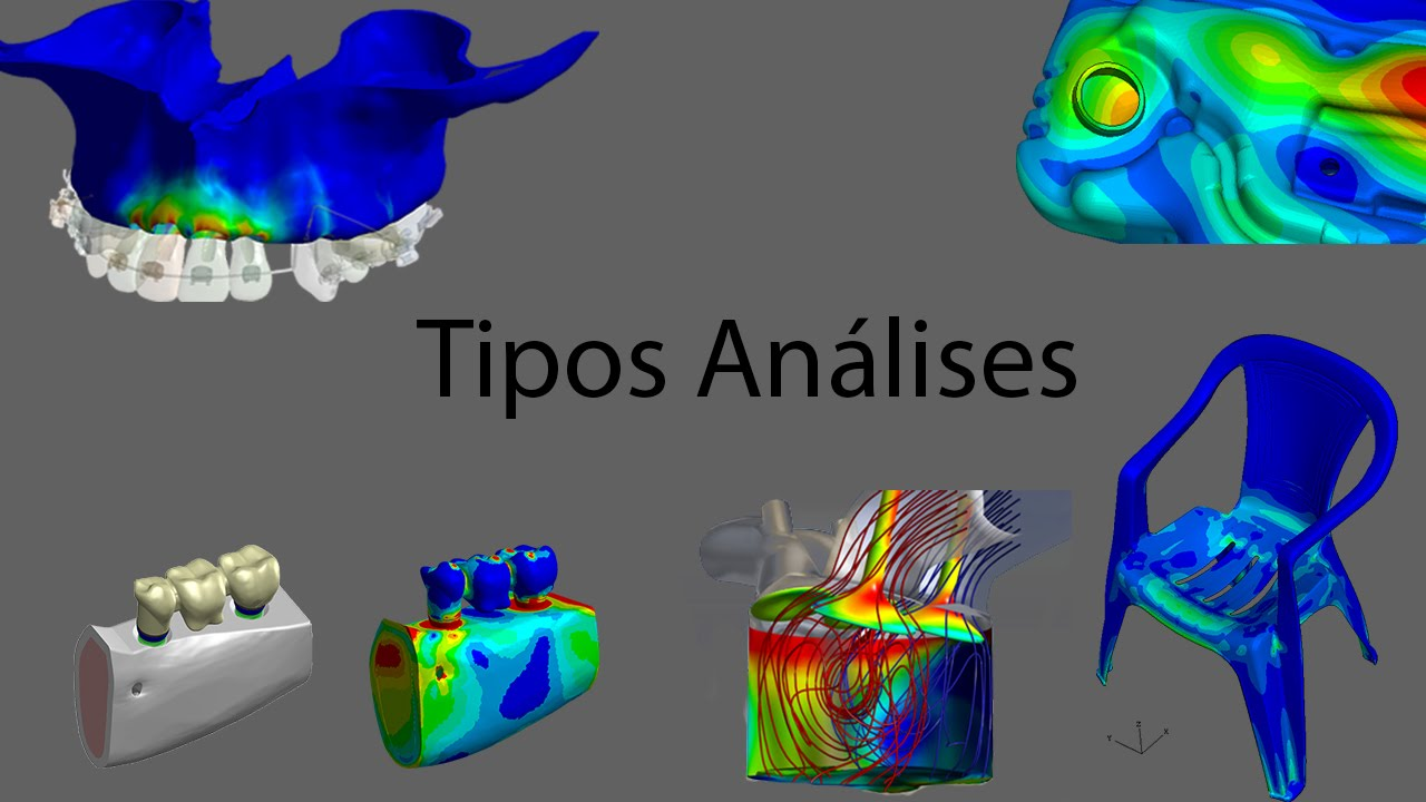Áreas de atuação e tipos de análises com elementos finitos