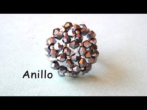 DIY - Precioso anillo de tupis y mostacillas  DIY - Beautiful ring of tupis and mostacillas