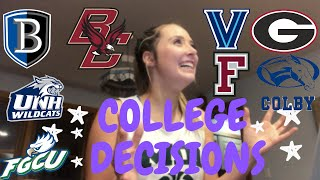COLLEGE DECISION REACTIONS 2019