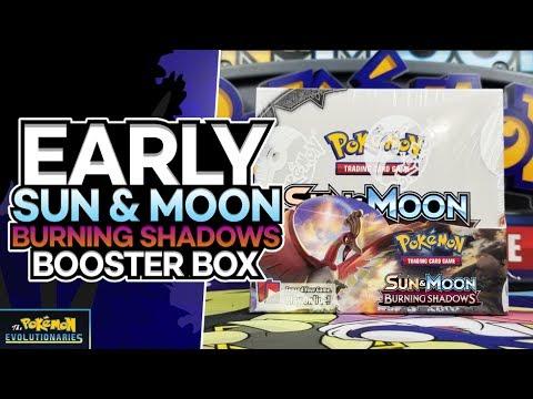 POKEMON BURNING SHADOWS BOOSTER BOX OPENING! | SUN & MOON POKEMON CARDS!!!