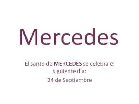 Significado y origen del nombre Mercedes