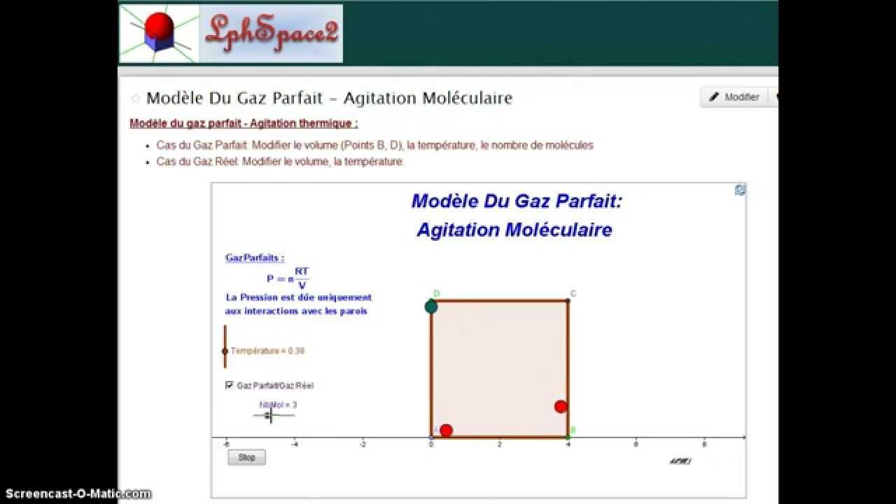 Modèle du gaz parfait - YouTube