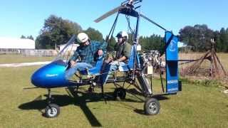 jon in a gyro practising takeoffs and landings viking aircraft engine for sport type aircraft