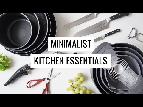 Minimalist Kitchen Essentials | My Minimalist Micro Apartment