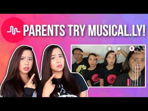 PARENTS TRY MUSICAL.LY FOR THE FIRST TIME! | Caleon Twins