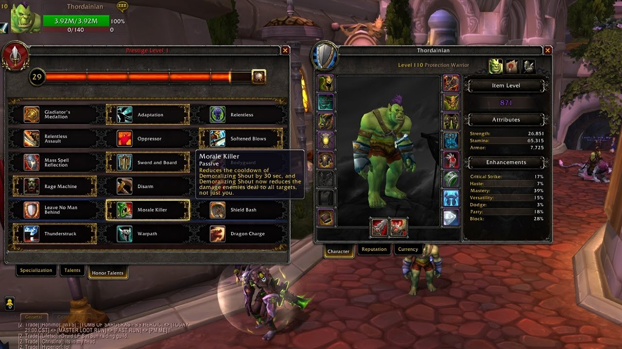 Warrior pvp in warlords gotwarcraft. Com.