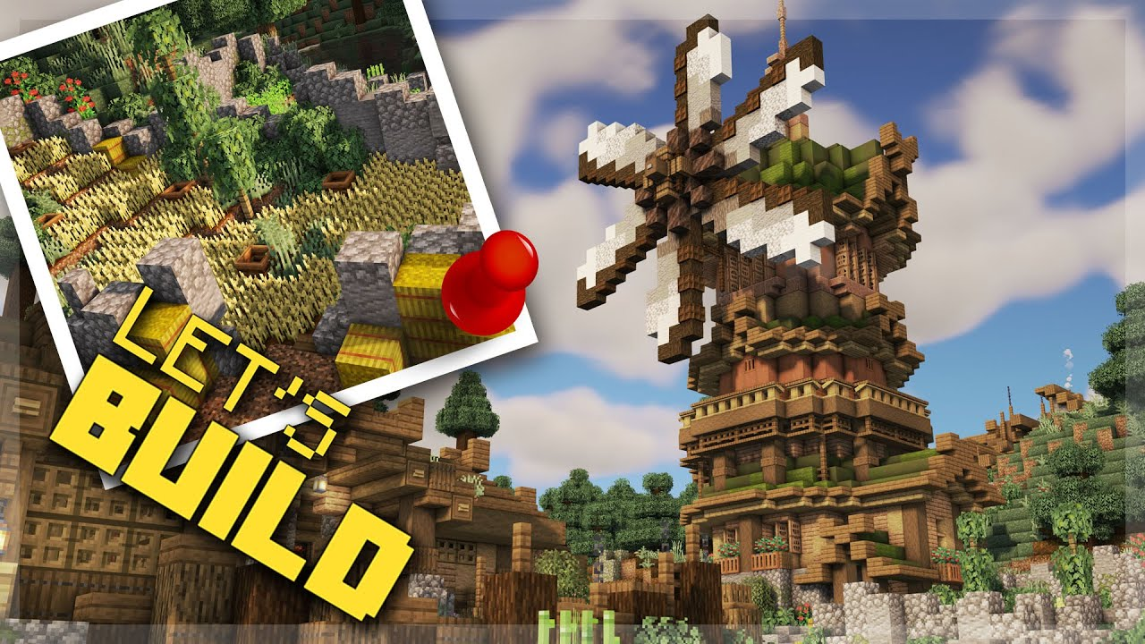 How to Build A Windmill in Minecraft | Minecraft Viking Village Build Series