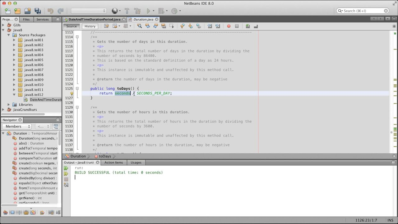 Java 8 Tutorial - 12 - Date and Time Duration und Period German