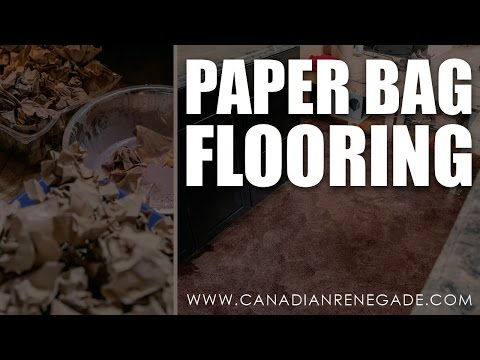 How To - Paper Bag Flooring