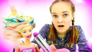 Видео для девочек - Новый образ Барби - Игры одевалки