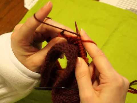 tricoter fil main gauche