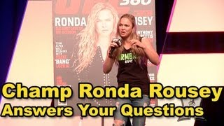 UFC Women's Bantamweight Champ Ronda Rousey Fan Expo Q&A (HD / complete + unedited)