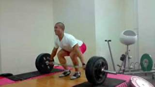 150kg snatch pull x 3