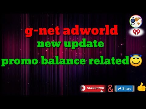 Gnet World New Update Promo Balance Related😇