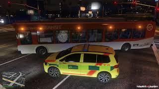 GTA V  Rescue Mod *Volkswagen Touran* ZZS Moravskoslezského kraje ELS | FULL HD 1080p 60FPS