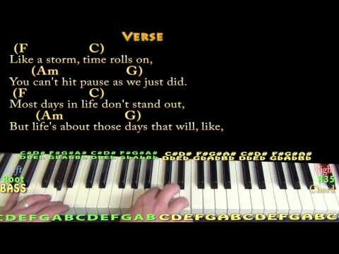 Piano church piano chords : Talladega (ERIC CHURCH) Piano Cover in C with Chords/Lyrics - YouTube