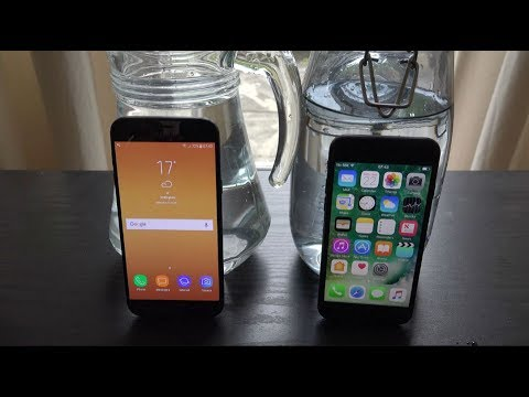 finest selection f1c18 c01df Samsung Galaxy J5 Pro 2017 vs iPhone 7 - Water Test! (4K)